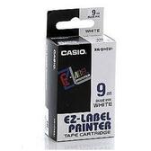 ※亮點OA文具館※CASIO 標籤機專用色帶-9mm 白底藍字 XR-9WEB1