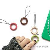 手機掛繩甜甜圈手繩 蘋果iPhone6s/7plus/8/x手機殼鑰匙扣掛飾品掛繩通用    麻吉鋪