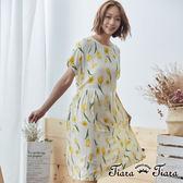 【Tiara Tiara】黃色鬱金香微縮腰洋裝(米) 新品穿搭
