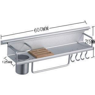廚房置物架 帶8勾,橡木刀架(特價熱賣)