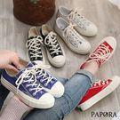 學生風經典休閒帆布鞋KK588黑/白/藍/紅