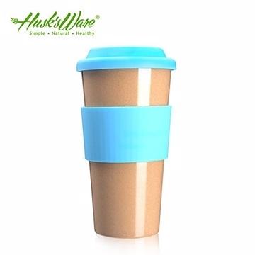 【南紡購物中心】【Husk's ware】美國Husk's ware稻殼天然無毒環保咖啡隨行杯-綠松石藍