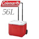 【Coleman 美國 56L 美利紅拖輪冰箱】 CM-27864/拖輪冰箱/行動冰箱/冰桶