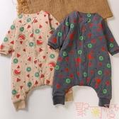 睡袋嬰兒純棉薄款兒童寶寶防踢被四季通用款分腿【聚可愛】