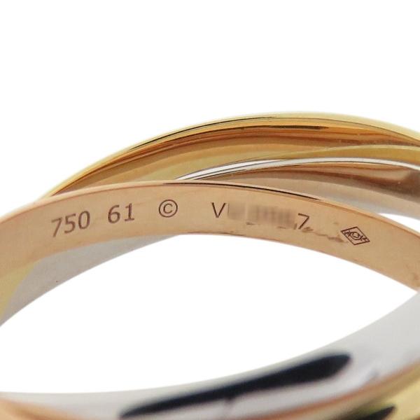 Cartier 卡地亞 Trinity系列 18K金三色三環戒 Ring #61【二手名牌 BRAND OFF】