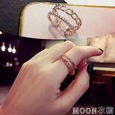 戒指 節韓版戒指女個性時尚簡約冷淡風食指環裝飾品ins潮 moon衣櫥