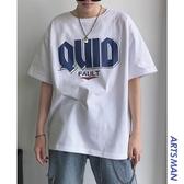 男夏季潮牌潮流短袖T恤男生ins超火cec半袖寬鬆情侶上衣 黛尼時尚精品
