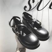 娃娃鞋 復古學院風女單鞋2018夏秋新款圓頭鬆糕厚底娃娃鞋日系包頭小皮鞋 小天後