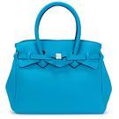 SAVE MY BAG Miss系列簡約輕量防水托特包(孔雀藍)280001-3