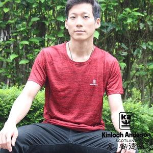 金安德森 2入組吸濕排汗抗菌涼感衣_紅灰_男款(運動衣/排汗衫)XL