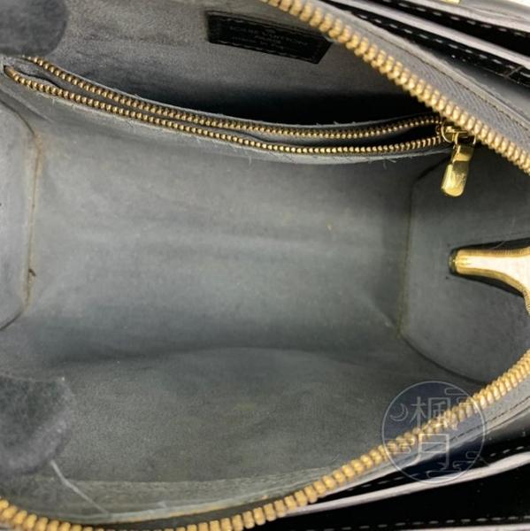 BRAND楓月 LOUIS VUITTON LV M52052 EPI 黑色 硬殼 水波紋 多格層 拉鍊 手提包