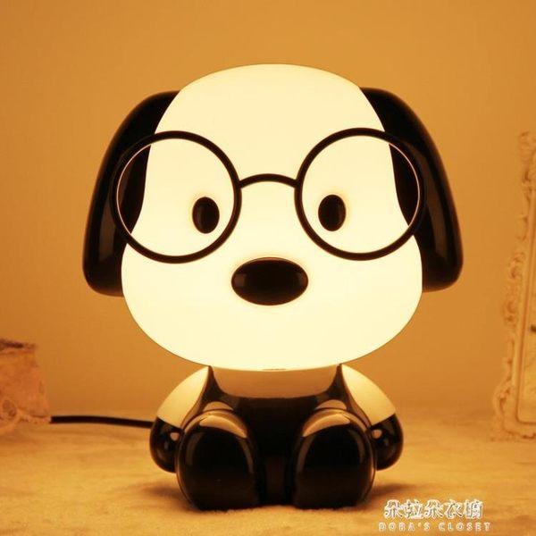 超大25cm卡通動物臺燈 LED插電小夜燈暖光兒童臥室床頭燈禮物  朵拉朵衣櫥
