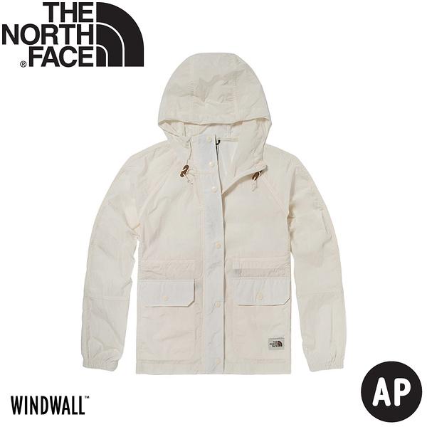 【The North Face 女 防風外套 AP《白》】5AY9/衝鋒衣/防水外套/風雨衣