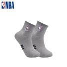 NBA 平版襪 MIT 運動配件 LogoMan刺繡短襪 (灰)