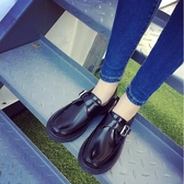牛津鞋-女新款平底圓頭學院黑色小皮鞋女英倫風牛津鞋漆皮單鞋子 東川崎町