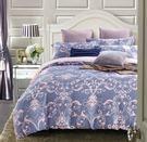 【金‧安德森】天絲床組《黛布拉_藍》兩用被床包四件組 (標準雙人)