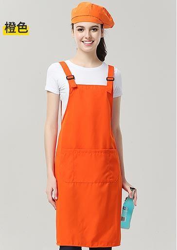 圍裙定制logo咖啡火鍋店時尚廣告星巴克廚房服務員工作服印字夏天