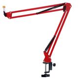 JYC Music直播專用JK-03桌夾型懸臂式麥克風架-紅色~加贈麥克風夾/強化轉接螺絲
