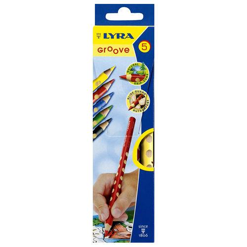 《德國LYRA》Groove三角洞洞色鉛筆(5色)╭★ JOYBUS玩具百貨