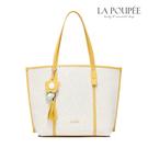 手提包 向陽花開花朵流蘇托特包/子母包 黃配米白-La Poupee樂芙比質感包飾 (預購+好禮)