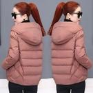 棉服 韓版寬鬆棉服顯瘦大碼2021連帽棉衣小個子短款棉襖外套女【快速出貨八折搶購】