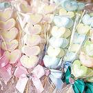 幸福朵朵【精緻版愛心棉花糖x100支】-二次進場棉花糖串/婚禮送客喜糖/慶生/婚禮小物