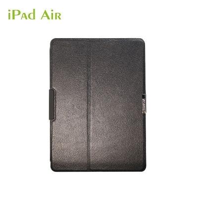Obien 歐品漾 APPLE iPad Air 真皮鋁合金保護套 - 專利擴音凹槽及防盜固定鎖孔設計 (不附電腦鎖)