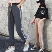 hiphop褲子春夏原宿bf風運動褲女學生韓版潮寬鬆超火的ins束腳褲「夢娜麗莎精品館」