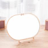【黑五最後倒數】Brilliant長橢形銅雕邊框桌鏡-生活工場