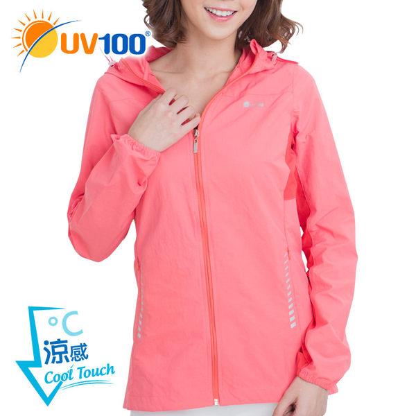 UV100 防曬 抗UV-涼感反光修身連帽外套