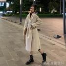 長款外套外套女裝秋冬季大衣新款中長款日繫顯瘦加厚雙面風衣 【快速出貨】