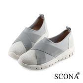 SCONA 蘇格南 輕量萊卡舒適休閒鞋 灰色 7300-2