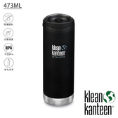 【Klean Kanteen】TKWide 寬口不鏽鋼保溫瓶 473ml 搭配咖啡蓋『消光黑』K16TKWPCC 不鏽鋼水壺│保溫杯