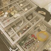 精美韓國手飾品首飾收納盒透明塑料耳環耳釘發手錶禮物首飾盒子