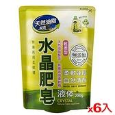 南僑水晶肥皂液体補充包-輕柔型2000g x 6入/ 箱【愛買】