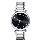 【Emporio Armani】美式經典極簡風時尚鋼帶腕錶-亮眼銀/AR2499/台灣總代理公司貨享兩年保固