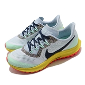 Nike 越野跑鞋 Wmns Air Zoom Pegasus 36 Trail 藍 黃 綠 女鞋 【ACS】 AR5676-401