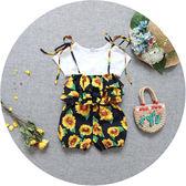 1-3歲女寶寶夏裝韓版幼童碎花背帶褲女嬰兒連體褲女童吊帶短褲子 森活雜貨