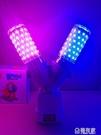 led插座彩色小夜燈光臥室網紅抖音燈粉紫藍色補光拍照調情氛圍燈 極有家