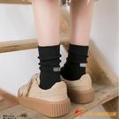 襪子女中筒襪秋冬純棉堆堆襪長襪日系百搭【小獅子】