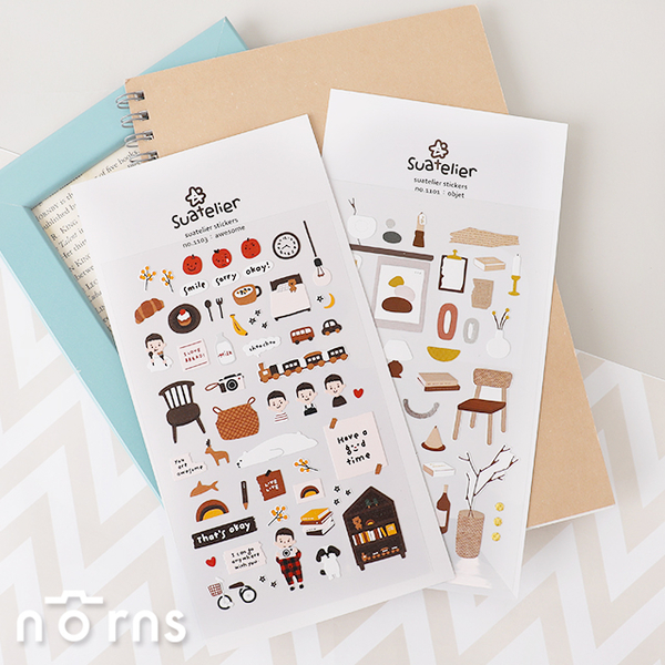 Suatelier stickers objet of life系列- Norns 韓國手作 手帳貼紙 生活物件 聖誕禮物