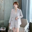 西裝外套 新款減齡顯瘦氣質薄款西裝洋氣西服兩件套輕熟風 【全館免運】