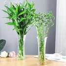花瓶簡約大號六角玻璃花瓶透明水培百合鮮花富貴竹花瓶客餐廳家用擺件YYS 快速出貨