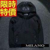 夾克外套 太空棉-3D浮雕休閒運動男連帽外套2色65ac5【巴黎精品】