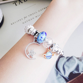 手環 星星 水晶 多元素 吊墜 拼接 個性 開口 手環【DD1804222】 icoca  05/24