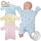 母嬰同室 DODOE 滿印精梳棉蝴蝶衣 台灣製 護手設計 新生兒服 連身衣 寶寶衣 蝴蝶衣【GA0035】