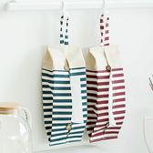 【BlueCat】Zakk紅藍橫線條毛毛蟲棉麻可掛紙巾盒 面紙盒