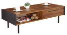 【南洋風休閒傢俱】茶几系列-畢卡索集層柚木雙色大茶几 邊桌 角桌 沙發桌 咖啡桌 (JF247-1)