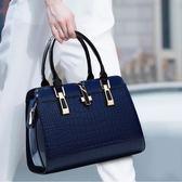 女士2019新款夏季時尚女包手拎大容量媽媽中年單肩斜挎手提大包包-ifashion