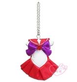 ♥小花花日本精品♥Sailor Mars美少女戰士月光仙子-火星款紅色洋裝衣服造型吊飾鑰匙圈50135004